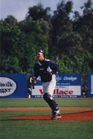 1999 Mike Elliot catcher returning from the pitching mound