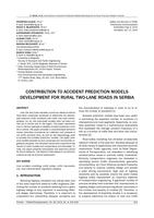 Contribution to Accident Prediction Models Development for Rural Two-Lane Roads in Serbia