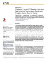 The Virtual Teacher (VT) Paradigm: Learning New Patterns of Interpersonal Coordination Using the Human Dynamic Clamp