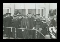 U.S. President Lyndon Baines Johnson walking to the stage at the FAU Dedication