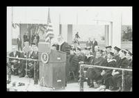 U.S. President Lyndon Baines Johnson speaks at the FAU Dedication