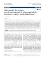 Class-specific discriminant time-frequency analysis using novel jointly learnt non-negative matrix factorization