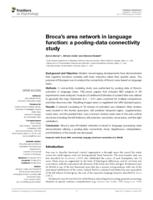 Broca's area network in language function: a pooling-data connectivity study