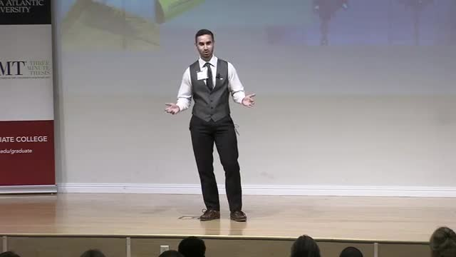 FAU 2017 3MT® Three Minute Thesis Championship - Eric Nieves