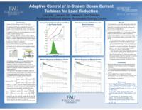 Adaptive Control of In-Stream Ocean Current Turbines for Load Reduction