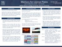 Memory for License Plates