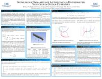 Nonlinear dynamics of autonomous underwater vehicles in ocean currents