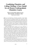 Combining Chemistry and College Writing: A New Model for an Honors Undergraduate Chemistry Course