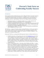 Report of the Task Force on Celebrating Faculty Success
