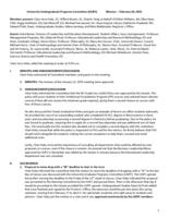 University Undergraduate Programs Committee Minutes 2015-02-20
