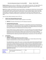 University Undergraduate Programs Committee Minutes 2015-03-27