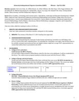 University Undergraduate Programs Committee Minutes 2015-04-24
