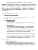 University Undergraduate Programs Committee Minutes 2015-09-04