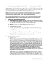 University Undergraduate Programs Committee Minutes 2016-09-12