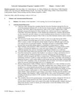 University Undergraduate Programs Committee Minutes 2012-10-05