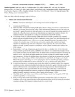 University Undergraduate Programs Committee Minutes 2011-10-07