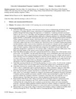 University Undergraduate Programs Committee Minutes 2012-11-02