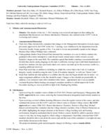 University Undergraduate Programs Committee Minutes 2011-11-04