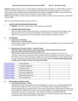 University Undergraduate Programs Committee Minutes 2015-11-06