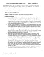 University Undergraduate Programs Committee Minutes 2012-11-30