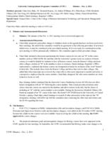 University Undergraduate Programs Committee Minutes 2011-12-02