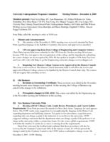 University Undergraduate Programs Committee Minutes 2009-12-04