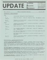 Update Florida Atlantic University, 1970-07-15