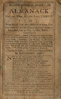 An astronomical diary, or, Almanack for the year of our Lord Christ 1762 : being the 2d year after bissextile or leap-year : calculated for the meridian of Boston, New England, lat. 42 deg. 25 min. north