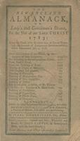 The New-England almanack, or Lady's and gentleman's diary, for the year of our Lord Christ 1783 : being the third after bissextile, or leap-year, and the seventh of American independence, which commenced July 4, 1776.