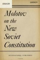 Molotov on the new Soviet constitution