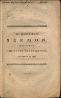 A sermon, preached in the camp at Roxbury, November 23, 1775 : being the day appointed by authority for thanksgiving through the province.
