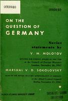 On the question of Germany : Soviet statements