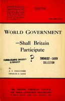 World government--shall Britain participate