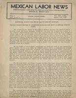 Mexican Labor News - July 20, 1936 to August 1, 1936  v. 1, nos. 3 and 4