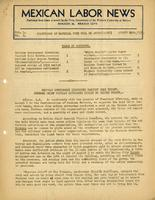 Mexican Labor News -  August 20, 1936  v. 1, no. 6