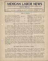 Mexican Labor News - November 25, 1936 to December 25, 1936  v. 1, nos. 12 and 13