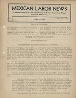 Mexican Labor News - May 25, 1939  v. 6, no. 21