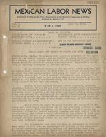 Mexican Labor News - June 29, 1939  v. 6, no. 26