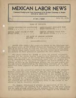 Mexican Labor News - July 13, 1939  v. 7, no. 2