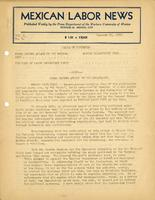 Mexican labor Mexican Labor News - January 25, 1940  v. 8, no. 4news