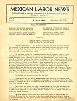 Mexican Labor News - September 9, 1941  v. 8, no. 81