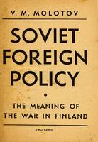 Soviet foreign policy, the meaning of the war in Finland