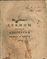The evil designs of men made subservient by God to the public good, particularly illustrated in the rise, progress and conclusion of the American war. : a sermon preached at Lexington, on the nineteenth of April, 1783, being the anniversary of the commenc