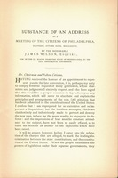 Substance of an address to a meeting of the citizens of Philadelphia delivered, October sixth, MDCCLXXXVII by the Honorable James Wilson...