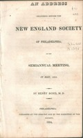 An address delivered before the New England Society of Philadelphia; at its semiannual meeting in May, 1824