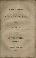 Washington's farewell address to the people of the United States.