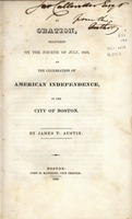 An oration, delivered on the Fourth of July, 1829 : at the celebration of American independence, in the city of Boston