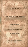 An address to the Phi Beta Kappa Society of Brown University : delivered 5th September, 1832