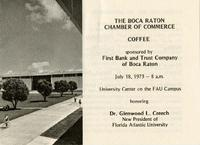 Boca Raton Chamber of Boca Raton - Program, 1973