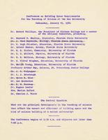 Conference on the Sciences, 1961